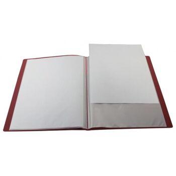 Sichtbuch A4 mit Beschriftungsfenster mit 30 Hüllen transparent rot
