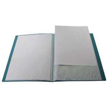 Sichtbuch A4 mit Beschriftungsfenster mit 40 Hüllen transparent türkis