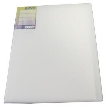 Sichtbuch A4 mit Beschriftungsfenster mit 40 Hüllen transparent weiss