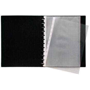 Sichtbuch Flexzip A4 schwarz mit 10 auswechselbaren Hüllen