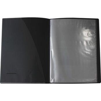 Sichtbuch Sichthüllenmappe A3 schwarz mit Einschubtasche auf dem Vorderdeckel