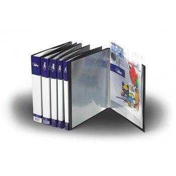 Sichtbuch/Speisekarte A4 economy in schwarz mit 10 Hüllen