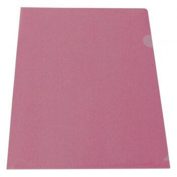 Sichthüllen Dokumentenhüllen 180my transparent rot - 10 Hüllen