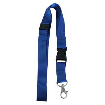 Umhängeband / Lanyards blau breit Steckschnalle - 10 Bänder