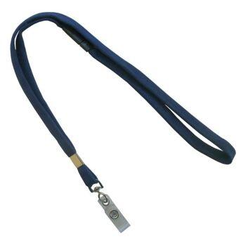 Umhängeband / Lanyards d. blau klarer Lasche - 10 Bänder