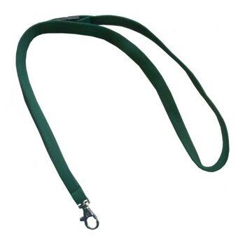 Umhängeband / Lanyards grün Karabinerhaken - 100 Bänder