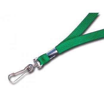 Umhängeband / Lanyards grün Simplexhaken - 10 Bänder