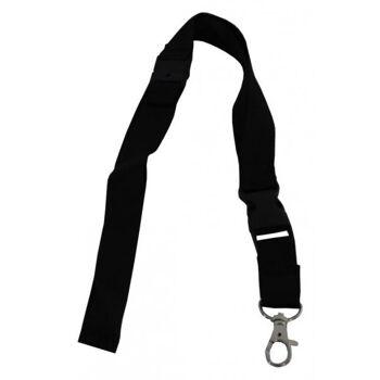 Umhängeband / Lanyards schwarz breit Steckschnalle - 100 Bänder