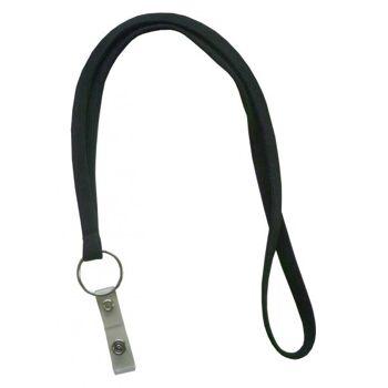 Umhängeband / Lanyards schwarz Schlüsselring - 100 Bänder