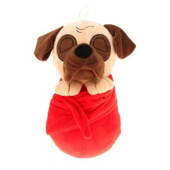 10-14493, Plüsch-Hund 45 cm, im Handtuch, Plüschhund