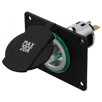 Powersteckdose mit Montageplatte- für Zusatzgeräten in Auto, Boot und Caravan