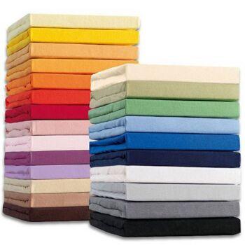 Spannbetttuch 140x200cm in verschiedenen Farben Bett Betttuch Bettlaken Spanntuch Baumwolle Polyester Bettwäsche Bett Wäsche