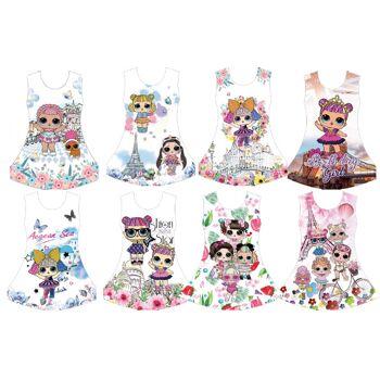 Mix Posten Kinder Mädchen Trend Kleid Sommer Strand Longshirt 4-14 Jahre Sweatshirt Oberteil Kindershirt Kurzarm - 4,90 Euro