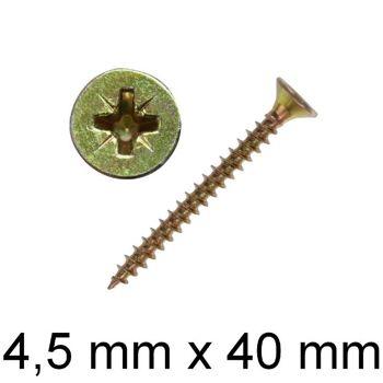 3000 Stück Schrauben Spanplattenschrauben Kreuzschlitz 4,5 x 40 cm