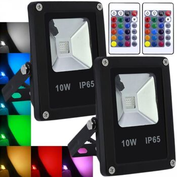 Hengda 10W RGB LED Fluter Außenbeleuchtung Mit Teleskop Stativ