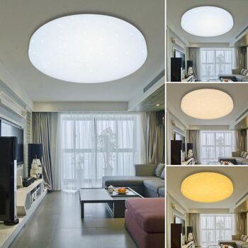 Vingo 50W Farbwechsel Runde LED-Deckenleuchte mit Starlight-Effekt