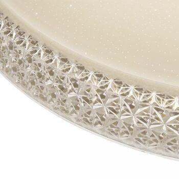 Vingo 60W LED Deckenleuchte Rund Starlight-Design Kristall Warmweiß