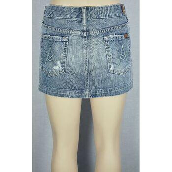 7 for all mankind Jeansrock W26 Blau Damen Minirock Denim Damen Röcke 5-189