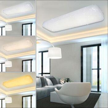 Vingo 30W 3in1 LED Deckenlampe Quadrat Starlight Effekt