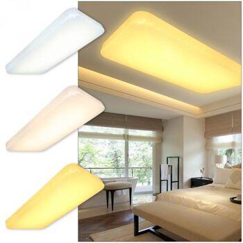 Vingo 60W 3in1 LED Deckenlampe Quadrat Starlight Effekt