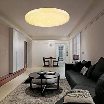 Vingo 60W Warmweiß Runde LED-Deckenleuchte mit Starlight-Effekt