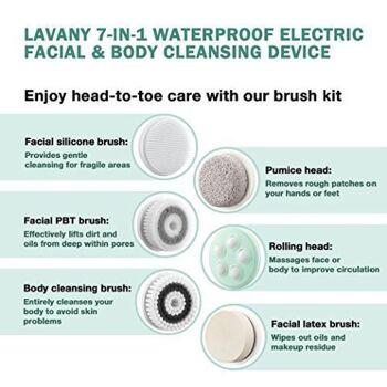 LAVANY® 7in1 Gesichtsbürste Körperbürste 4D