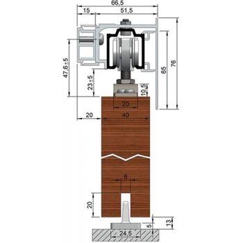 Abdeckkappe Montageschiene m. Abstandsprofil Edelstahl-Effekt eloxiert 2 Stück