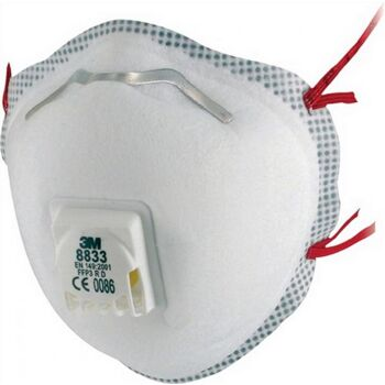 Atemschutzmaske 8833 FFP3NRD b.30xAGW-Wert 3M EN149:2001+A1:2009, 10 Stück