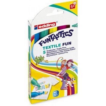 Funtastics Textil Fun Marker 5er Set, 1 Stück