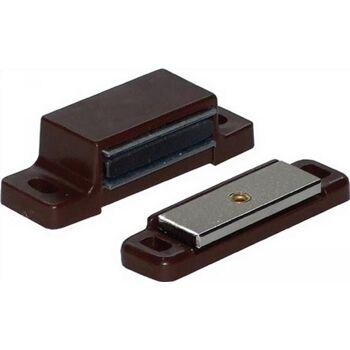 Magnetschnäpper 3-4kg mit GegenSt. beweglich Kunststoff braun, 50 Stück