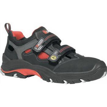 Sicherheits-Sandale EN ISO 20345 ESD S1P SRC Cult Gr. 42 Nubukleder schwarz/rot