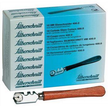 SILBERSCHNITT Glasschneider HM-Schneidrädchen 5mm mit Holzheft