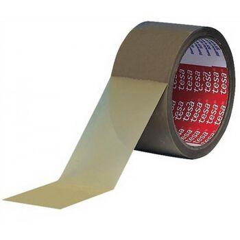 Verpackungsklebeband 4120 Länge 66m Breite 50mm braun PVC-Folie tesa, 6 Stück