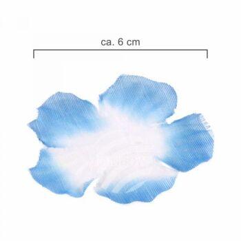 Hawaii Blumenkette classic blau weiß