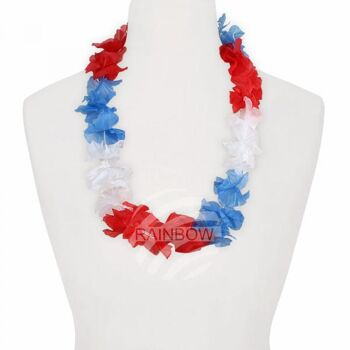 Hawaii Blumenkette classic rot weiß blau
