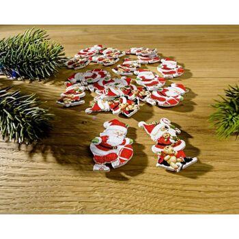 Streudeko Weihnachtsmänner 12-tlg