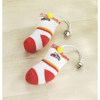 Katzenspielzeug Socken mit Glöckchen 2er