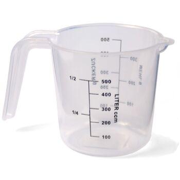 28-028105, Meßbecher für 0,5 Liter, mit 2 Skalen, Messbecher