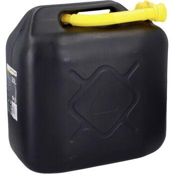 28-068787, KINZO Benzinkanister 20 Liter, schwarz, mit Einfüllstutzen
