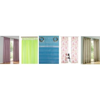Gardinen Mix Dekostore, Vorhang, Store, Dekoschal, 1. Wahl Restposten Neu