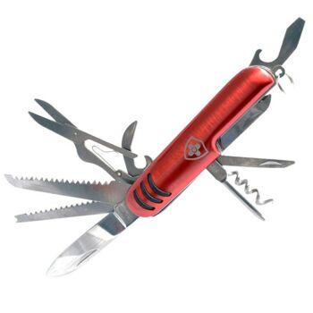 28-345012, Edelstahl Taschenmesser Lasergravur, mit 11 Funktionen