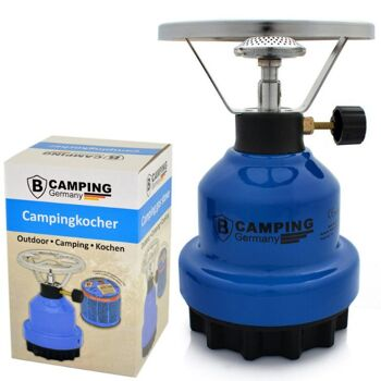 28-355202, Campinggaskocher mit Kochplatte, ideal für Camping, Reisen und Outdoor