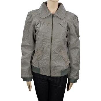 ONLY Frederikke Jackett Gr.L Damenjacke Leder Jacke Damen Jacken 41091701