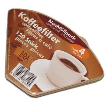 12-781505, Filtertüten 120er Pack, Kaffeefilter naturbraun