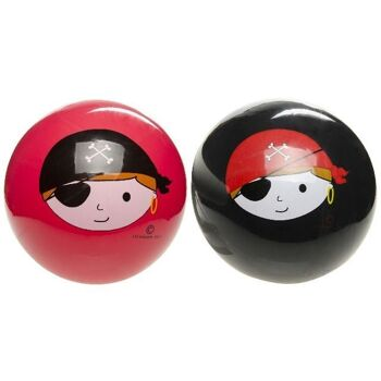 27-83369, PVC Ball 23 cm, Piratendesign, Fußball, Beachball, Spielball, Fussball, Wasserball