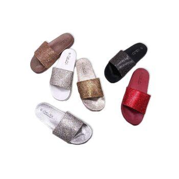 Damen Woman Sommer Slipper Übergröße Big Plus Size XL Schuhe 41-44 Schuh Shoes  Business Freizeit Schuh nur 9,90 Euro
