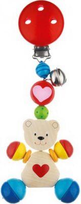 Baby-Clip Herzbär aus Holz, 6 Stück