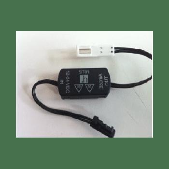 LED Innenraumbeleuchtung, Einbauspot schwarz