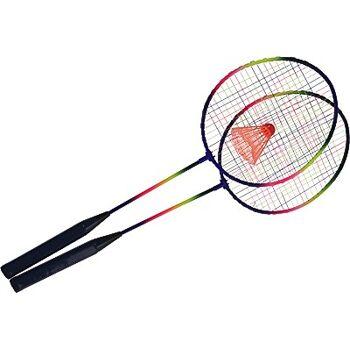 12-04100030, Federballspiel 3-teilig, 2 Schläger mit Ball  gute Qualität, Badminton