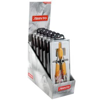 12-55799, ARISTO  Schnellverstellzirkel, Pastellfarben mit Ersatzminen